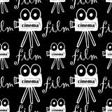 Seamless pattern with cameras Stock Images