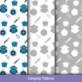 Seamless pattern on the camping theme Royalty Free Stock Photo