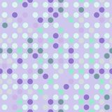 Seamless dotted background in light violet and mint green colors. Seamless pattern. Can be used for scrapbooking, cards, backgrounds, wedding and so on Stock Photography