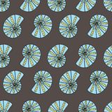Seamless geometric pattern / Sea shells Stock Images