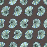 Seamless geometric pattern / Sea shells Stock Images