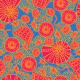 Seamless geometric pattern / Sea shells Royalty Free Stock Image