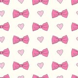 Seamless pattern with bows Stock Images