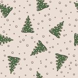 Seamless pattern Christmas and New Year theme Stock Photography