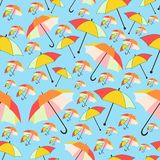 Pattern bakground of umbrellas Stock Photos