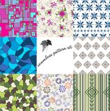 Set of eight patterns Royalty Free Stock Photography