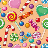 Seamless pattern candies Royalty Free Stock Photo