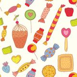 Seamless pattern with candies Royalty Free Stock Images