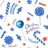 Seamless  pattern with candies. Royalty Free Stock Photos