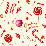 Seamless  pattern with candies. Stock Image