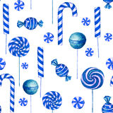 Seamless  pattern with candies. Stock Photos