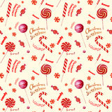 Seamless  pattern with candies. Royalty Free Stock Photo