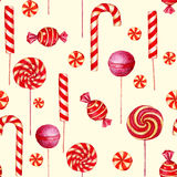 Seamless  pattern with candies. Royalty Free Stock Image