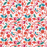 Seamless  pattern with candies. Stock Photography