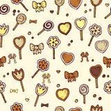 Seamless pattern with candies Stock Image