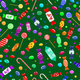 Seamless pattern of candies Stock Photo