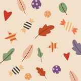 Seamless pattern with candies. Pattern autumn vector stock image