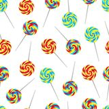 Seamless pattern with candies Royalty Free Stock Photography