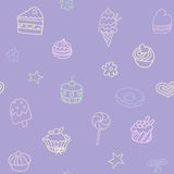 Seamless pattern with candies and sweets Stock Images