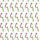 Seamless Pattern with Candy Cane. Great for Christmas projects, wrapping paper, backgrounds or printed on fabric or. Textile Royalty Free Stock Photo