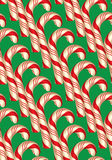 Seamless Pattern with Candy Canes, Christmas and New Year Royalty Free Stock Photos