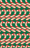 Seamless Pattern with Candy Canes,  Christmas  Stock Photos