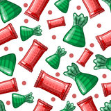 Seamless pattern with candy Stock Images