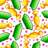 Seamless pattern with candy Stock Photography