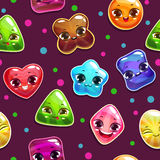 Seamless pattern with candy characters Royalty Free Stock Image