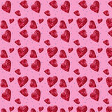 Seamless pattern of candy hearts Royalty Free Stock Photos