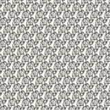 Seamless pattern of candy wrappers, tails from the wrapper look like rabbit ears. Royalty Free Stock Photo