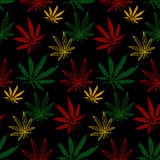 Seamless pattern cannabis Royalty Free Stock Images