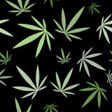 Seamless pattern - cannabis leaf background Stock Images