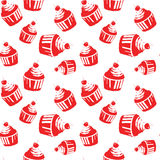 Seamless pattern with capcake. Royalty Free Stock Photos