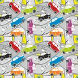 Seamless pattern car crash Royalty Free Stock Images