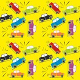 Seamless pattern car crash Stock Images