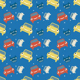 Seamless pattern, car theme Stock Images