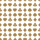 Seamless pattern with card suits. Endless background of hearts, diamonds, clubs, spades for design. Can be used for textiles, interior design, website royalty free illustration