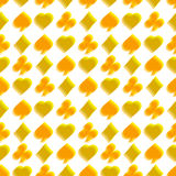 Seamless pattern with card suits Royalty Free Stock Photography