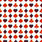 Seamless pattern with card suits Stock Images