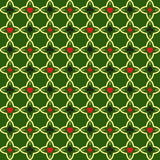 Seamless pattern with card suits on  green . Stock Images