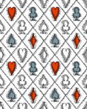 Seamless pattern with card suits Royalty Free Stock Image