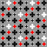 Seamless pattern with card suits motif. vector illustration