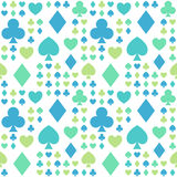 Seamless pattern with card suits. For textiles, interior design, for book design, website background Royalty Free Stock Images
