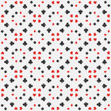 Seamless pattern of card suits Royalty Free Stock Image