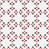 Seamless pattern of card suits Stock Photo