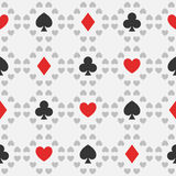 Seamless pattern of card suits Royalty Free Stock Photos