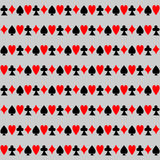 Seamless Pattern with Cards. Royalty Free Stock Photography