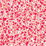 Seamless pattern carnation hearts. Royalty Free Stock Image