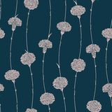 Seamless pattern of carnations Stock Images